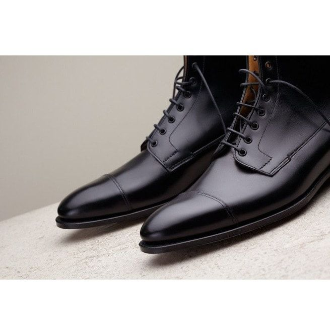 Handmade Men Black Leather Boots, Dress Boots For , | RebelsMark