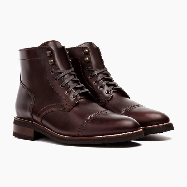 Men's Brown Captain Lace-Up Boot - Thursday Boot Compa