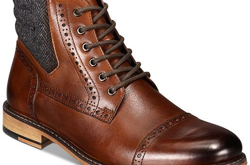Bar III Men's Carter Leather Dress Boots, Created for Macy's .