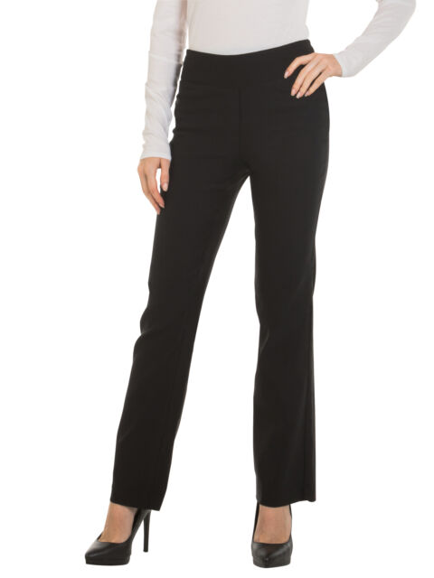 Bootcut Dress Pants for Women -Stretch Comfy Work Office Pull on .