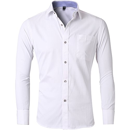 Tom's Ware Mens Premium Casual Inner Contrast Dress Shirt .