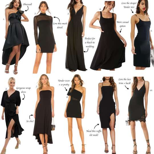 10+ Impressive Black Dresses For Weddings Photos - Wedding Dress .