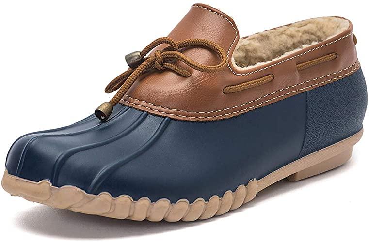 Amazon.com | DKSUKO Women's Waterpoof Loafer Shoes Slip On Flat .