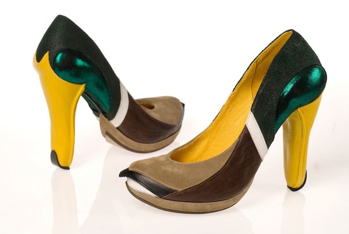 Incredibly Creative High Heels | Bird shoes, Funky shoes, Crazy .
