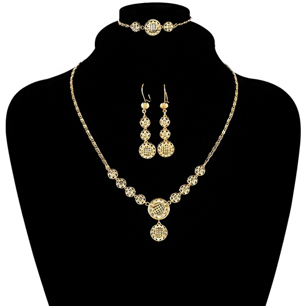Ethiopian Gold Jewelry Sets Includes Necklace/Earrings/Bracelet .