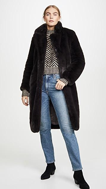 Apparis Siena Faux Fur Coat   SHOPB