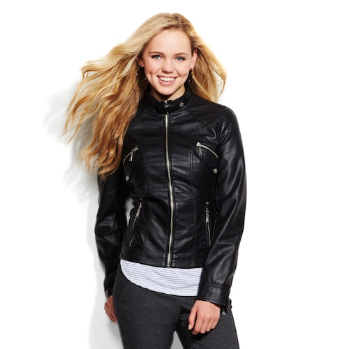 J2 Faux-Leather Jacket - Junio