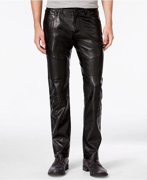 INC International Concepts INC Men's Slim-Fit Faux Leather Pants .