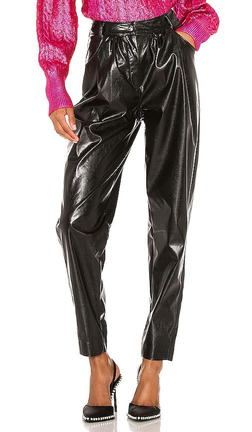 MSGM Faux Leather Pants in Black | REVOL