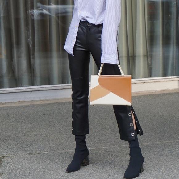 Mango Pants | Faux Leather Size 4 | Poshma