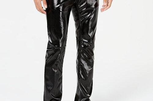 INC International Concepts I.N.C. Men's Slim-Fit Faux-Leather .