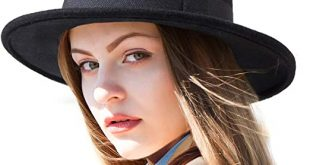 LADYBRO Black Hat Women Wool Fedoras - Men Hat for Winter Wide .