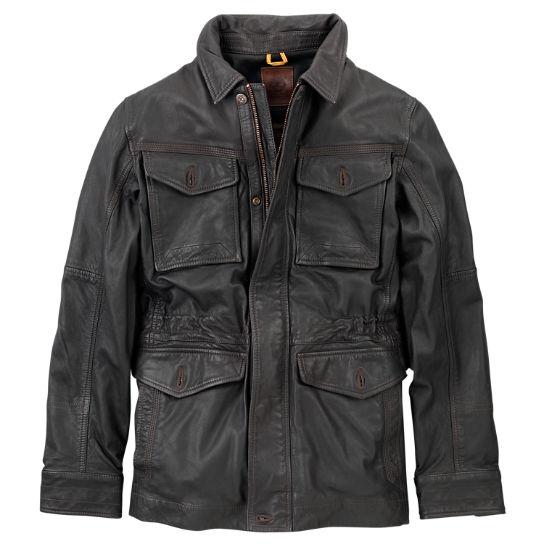 Men's Mount Major Leather Field Jacket   Timberland US Sto