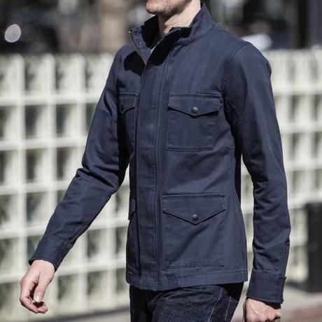 Field Jacket - Navy Micro Sanded Canv