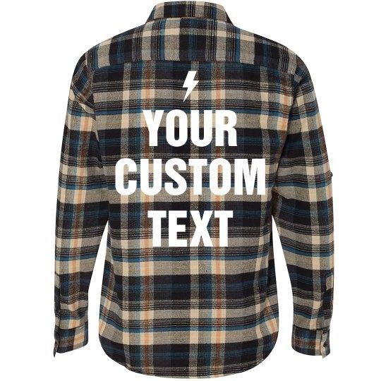 Custom Flannel Shirt Unisex Long Sleeve Plaid Flannel Shi