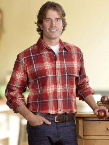 Orton Brothers Colorful Plaid Flannel Shirt for M