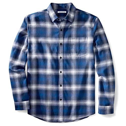 Flannel Shirt Blue: Amazon.c