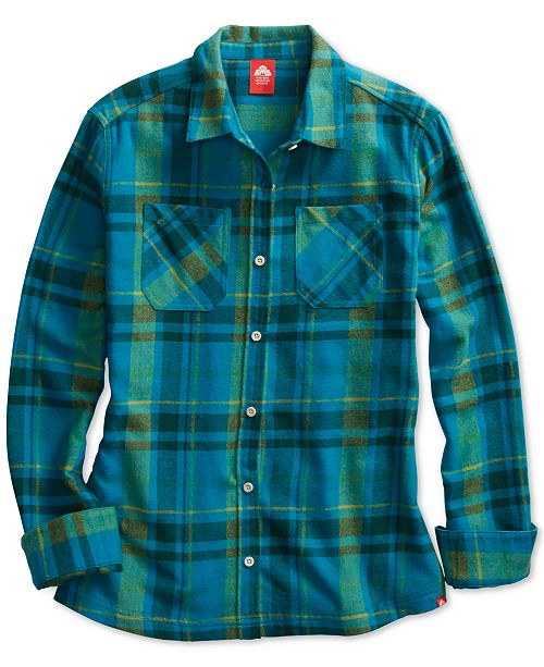 EMS® Women's Timber Fitted Plaid Flannel Shi