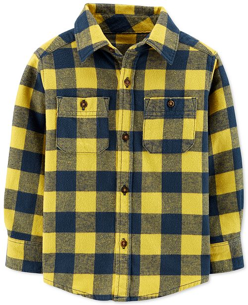 Carter's Toddler Boys Cotton Plaid Flannel Shirt & Reviews - Shirts .