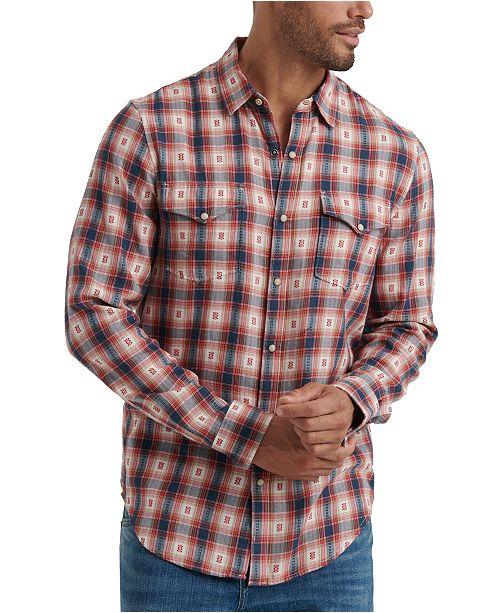 Lucky Brand Men's Snap Flannel Shirt & Reviews - Casual Button .