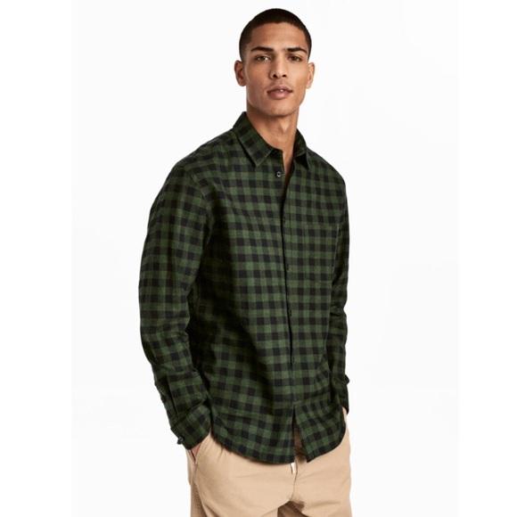 H&M Shirts | Mens Hm Flannel Shirt Regular Fit | Poshma