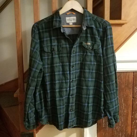 Field & Stream Shirts | Field Stream Men Green Plaid Flannel Shirt .