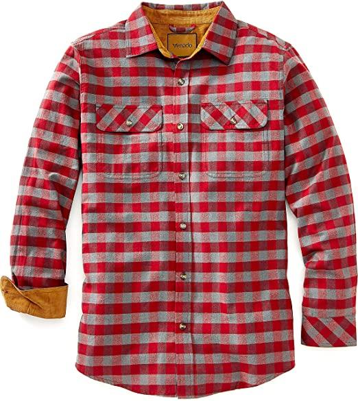 Venado Flannel Shirt for Men - Mens Flannel Plaid Shirt with Full .