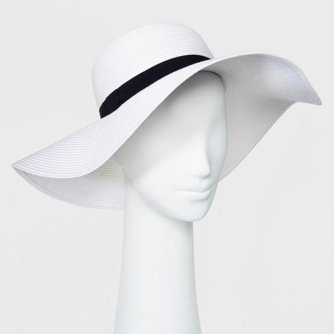 Women's Floppy Hat - A New Day™ White : Targ