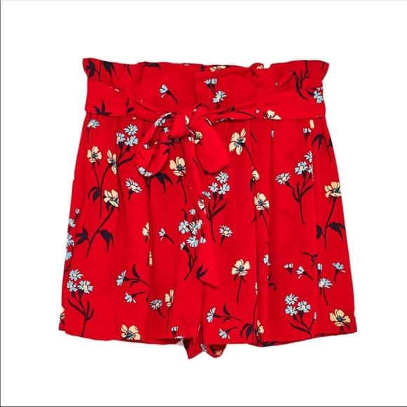 Zara Shorts   Red Floral   Poshma