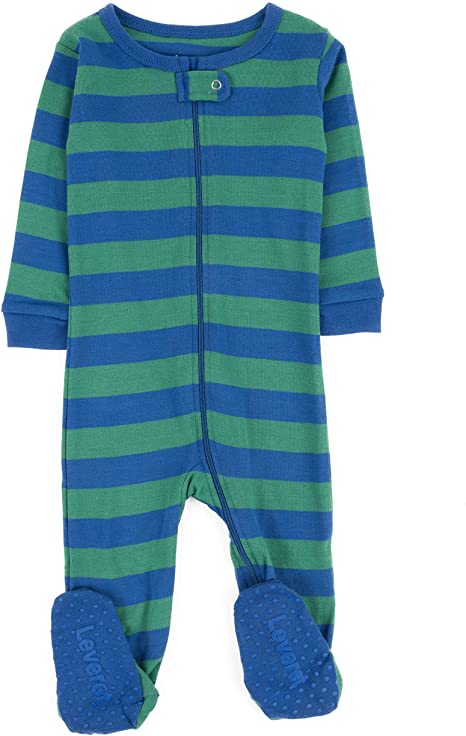 Amazon.com: Leveret Striped Baby Boys Footed Pajamas Sleeper 100 .