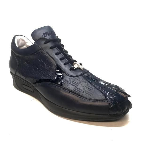 Mauri M770/1 Navy Blue Crocodile Tail Sneakers | Shoes, Sneakers .