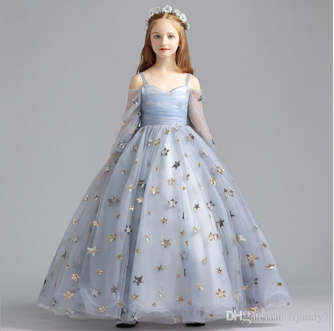 Flower Girl Dresses Strapless Sequin Lace Girls Pageant Wedding .