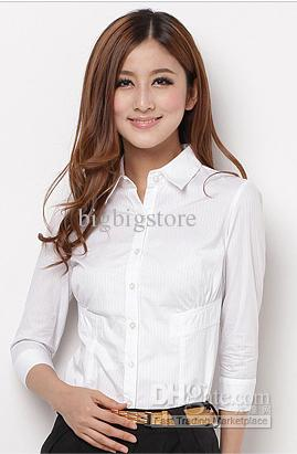 2020 Spring Summer White Women Female Lady Slim Fit Business .