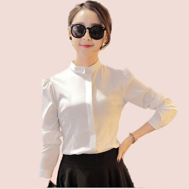 Autumn Fashion Brand long Sleeve Puff Shirt Women Single Breasted .