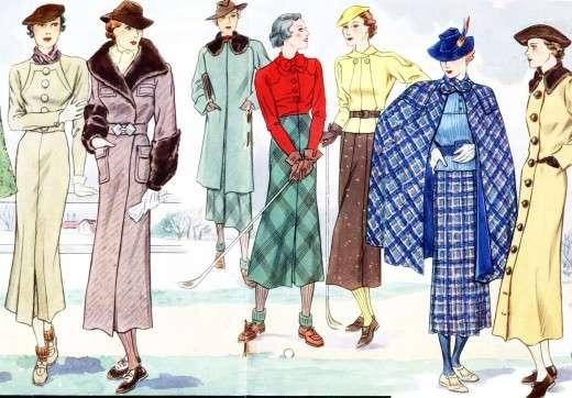 1930s French Fashion Art : Modes et Travaux illustratio