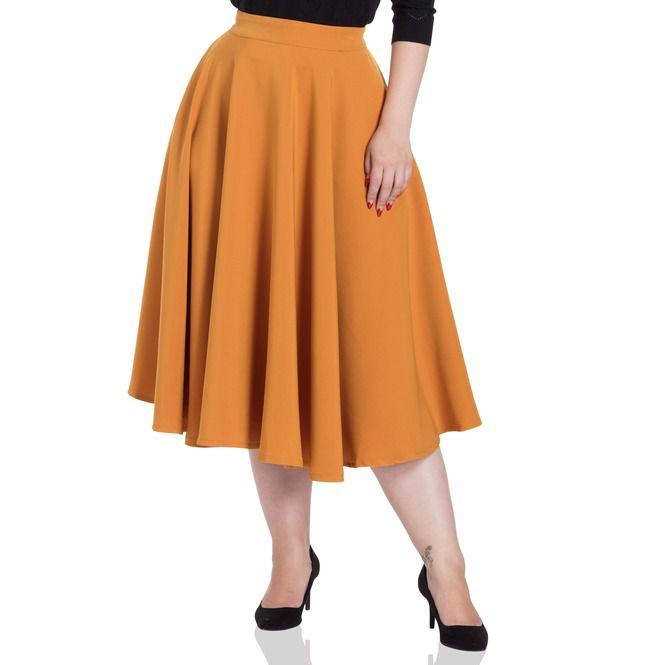Sandy Mustard Full Circle Skirt | RebelsMark