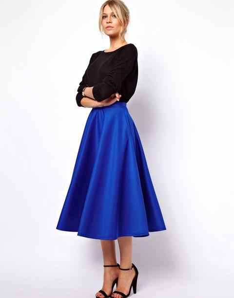 Full Skirts - Ladylike Fall Skir