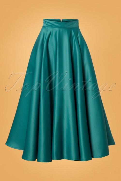 50s Michaella Full Swing Skirt in Te