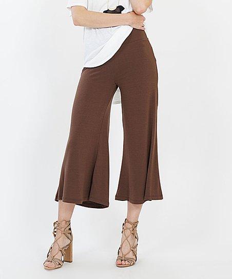 Brown Gaucho Pants - Women | Zuli