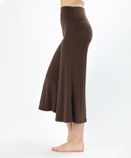Zenana Brown Gaucho Pants - Women | Zuli