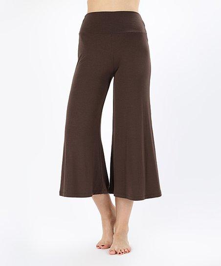 SBS Fashion Brown Gaucho Pants - Women | Zuli