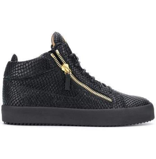 Giuseppe Zanotti Kriss Lizard-Effect Sneakers - Black | Garmento