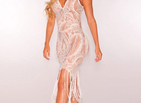 Sexy Club Dress Lace Sheer V Neck Sleeveless Going Out Dresses .