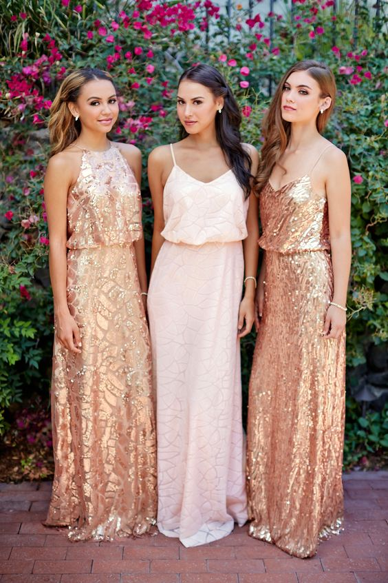 Long bridesmaid dresses, spaghetti straps bridesmaid dress,glitter .