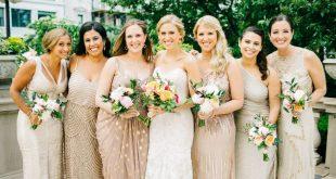 Gold Bridesmaid Dresses to Shop N
