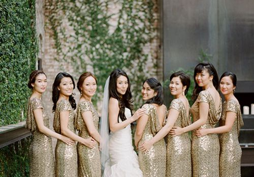 Gold Bridesmaid Dresses That Shine Bright