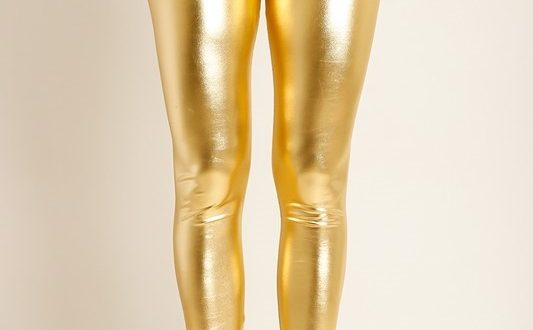High Waist Metallic Gold Leggings   Naked City Clothi