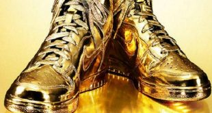 PHOTO: Nike Indulgences #5 Dipped In Real 24K Gold - Business Insid