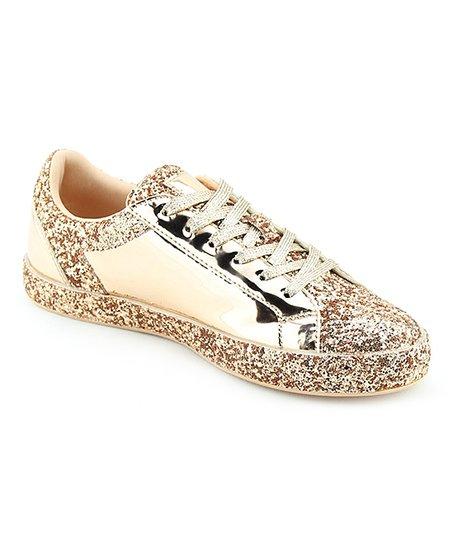 Nature Breeze Rose Gold Shine & Glitter Raven Sneaker - Women | Zuli