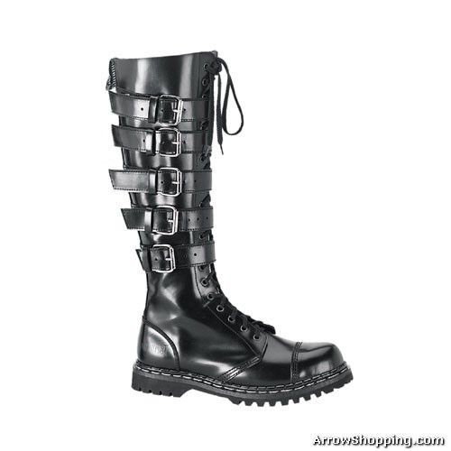 mens gothic boots | helmet | Gothic boots, Steel toe boots .